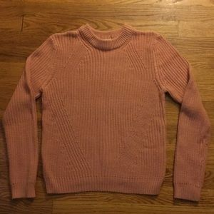 Blush pink H&M cable knit sweater.